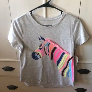 Girls zebra tee shirt